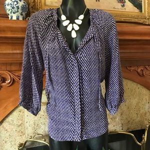 Joie purple & Black Top Silk